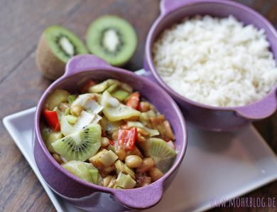 Erdnussiges Kiwi-Curry