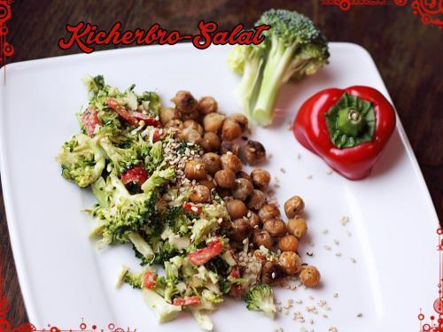 Brokkoli-Salat mit Kichererbsen