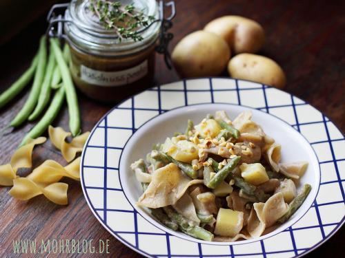 """""""Pasta alla mohranese"""" - mit Kartoffeln, Bohnen und Nüssen"""