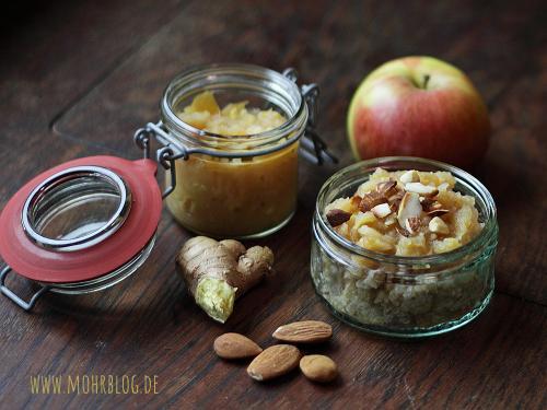 Quinoakickstarter - Süßes Quinoafrühstück mit Apfel-Ingwerkompott