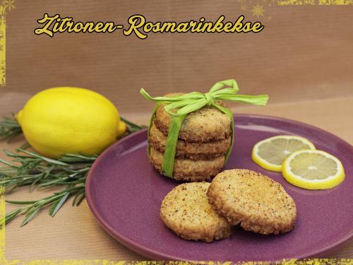 Zitronen-Rosmarinkekse