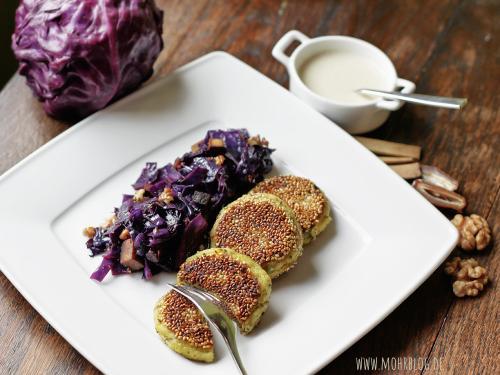 Sesam-Kartoffelplätzchen