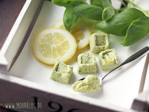 Zitronen-Basilikumbutter