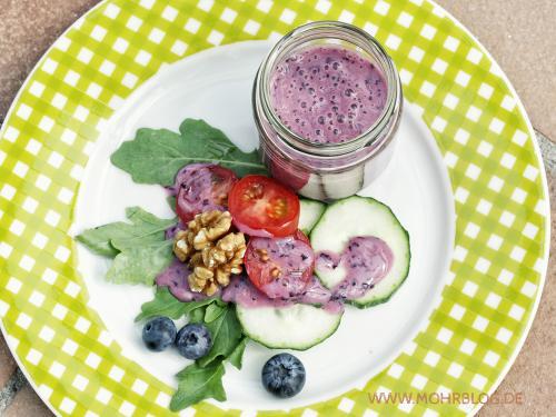 Blaubeer-Salatdressing