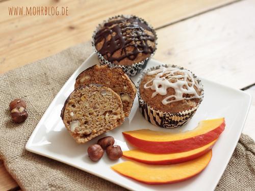 Kürbis-Nuss-Muffins